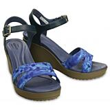 Crocs LeighII AnkleStrap Graphic Wedge