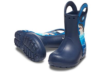 CrocsFL Shark Ptch Rain Boot B