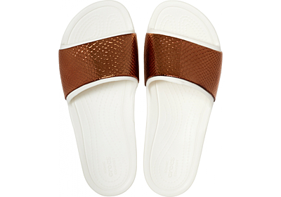 Crocs Sloane MetalText Slide W